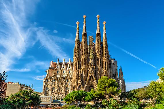 Sagrada Familia a Barcelona. Taxi Palamós - Calonge, Costa Brava