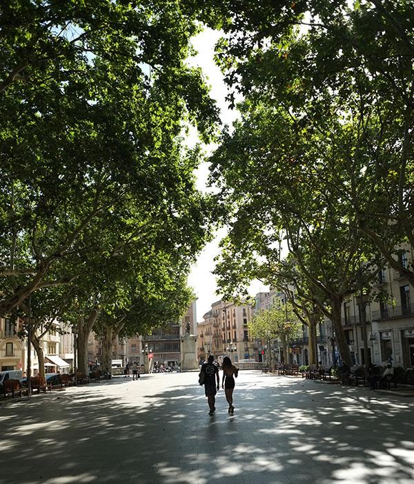 Una visita y paseo por La Rambla de Figueres. Taxi en Palamós y Calonge te lleva por las mejores rutas turísticas de la Costa Brava