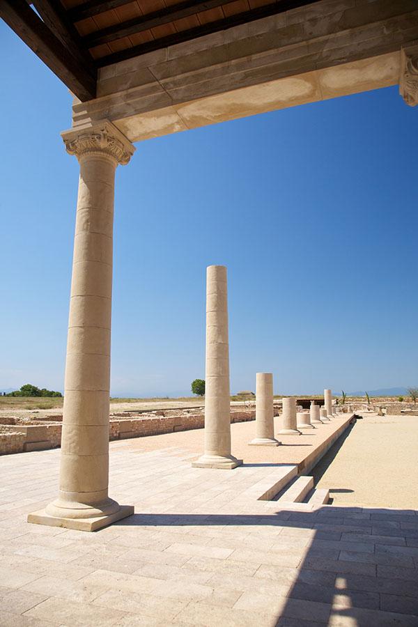 Ciudad Romana en las Ruinas de Empúries. L' Escala ruta turística. Taxi en Palamós y Calonge.